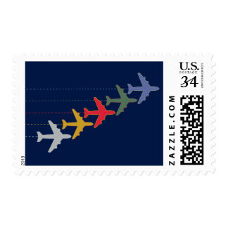 color airplanes postage