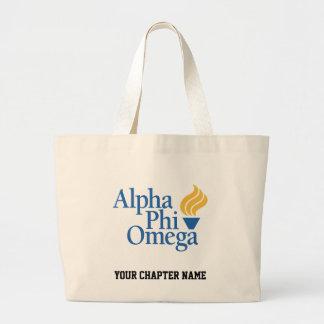 Color alfa de Omega de la phi - antorcha Bolsa Tela Grande