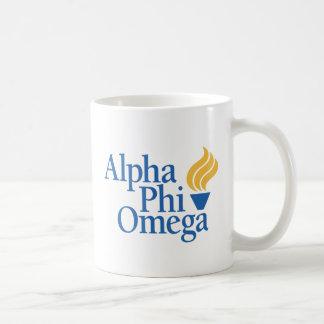Color alfa de Omega de la phi - antorcha Taza