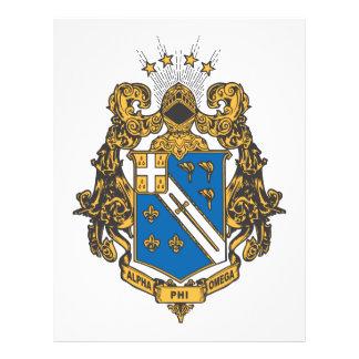 Color alfa de Omega de la phi - escudo Tarjeta Publicitaria