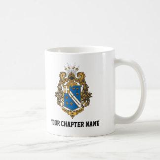 Color alfa de Omega de la phi - escudo Taza De Café