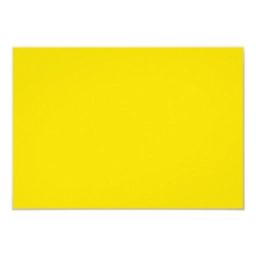 """Color amarillo 3,5 x 5 pulgadas invitación 3.5"""" x 5"""""""