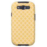 Color Amarillo de Lindo Diseño Samsung Galaxy S3 Funda