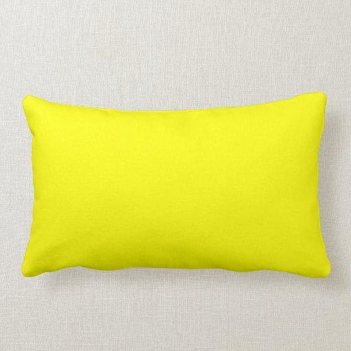 Color Amarillo de Lindos Almohada