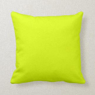 Color amarillo de neón brillante del color cojín