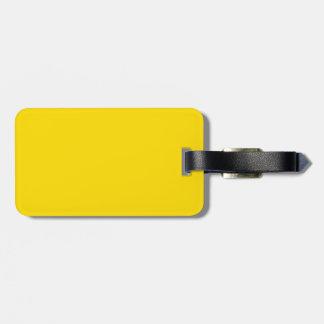 Color amarillo etiqueta de maleta