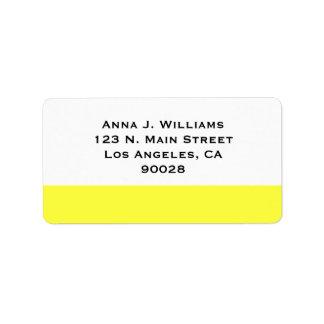color amarillo etiquetas de dirección