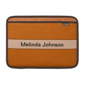 Color amarillo-naranja simple personalizado funda para macbook air