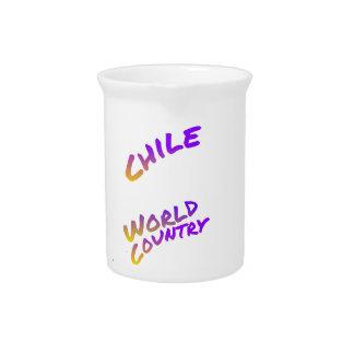 Color América del arte de la letra del país del Jarra Para Bebida
