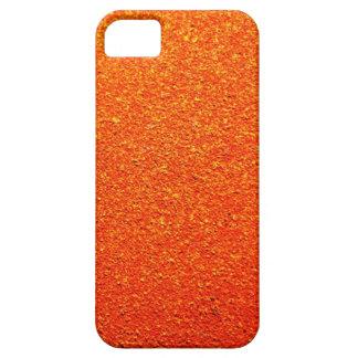 Color anaranjado de la pared dura rígida rústica r iPhone 5 cárcasas