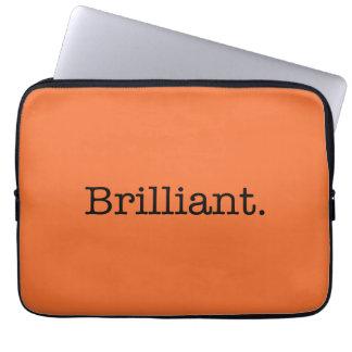 Color anaranjado de la tendencia de la mandarina b mangas computadora