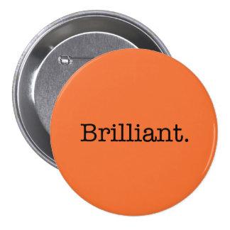 Color anaranjado de la tendencia de la mandarina b pin redondo 7 cm