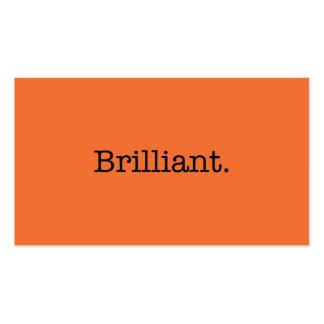 Color anaranjado de la tendencia de la mandarina b tarjeta personal