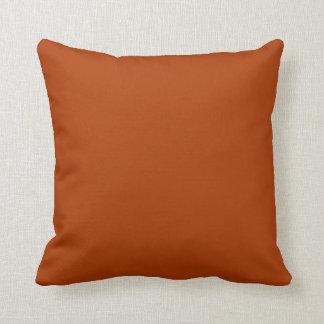 Color anaranjado del moho profundo del oro del oto cojines