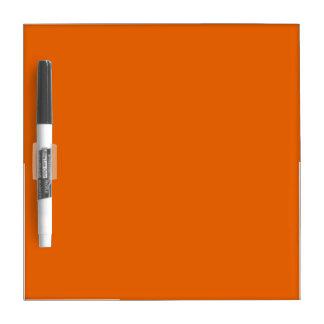Color anaranjado pequeño pizarras