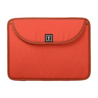 Color anaranjado simple funda para macbook pro