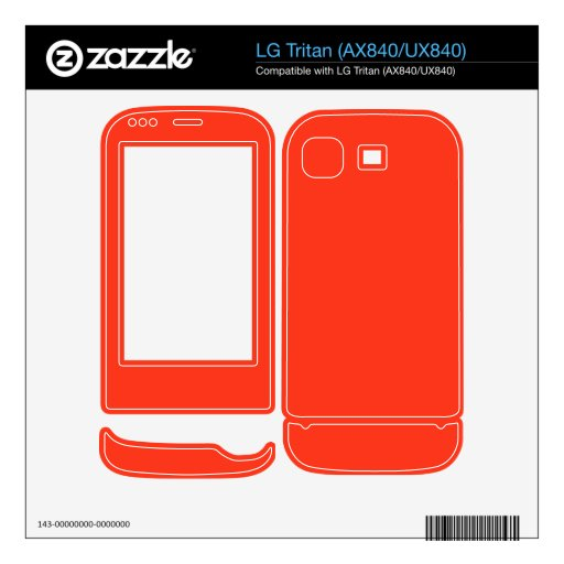 Color anaranjado simple LG tritan skins