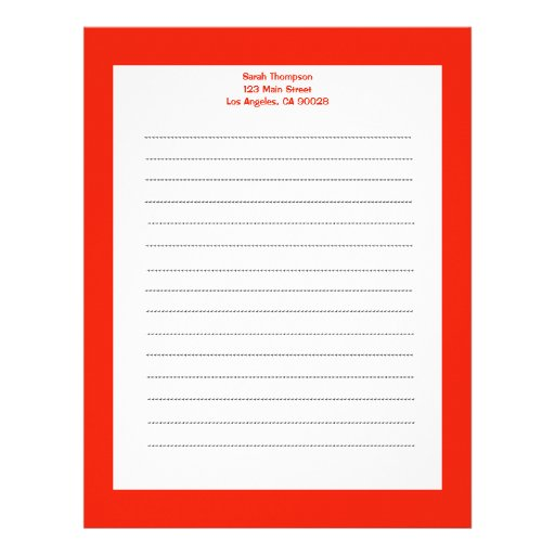 Color anaranjado simple membretes personalizados