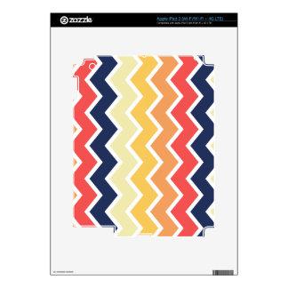 Color anaranjado y azul de los diseños geométricos pegatina skin para iPad 3