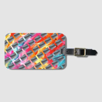 Color and Grays Luggage Tag