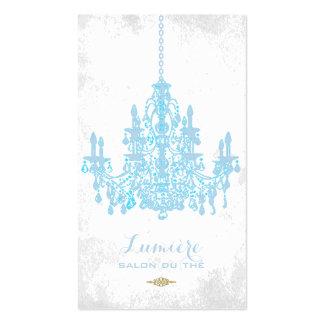Color apacible del azul chandelier/DIY de Tarjetas De Visita