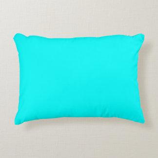 color aqua / cyan accent pillow