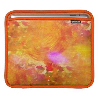 color art seamless background yellow, orange iPad sleeve
