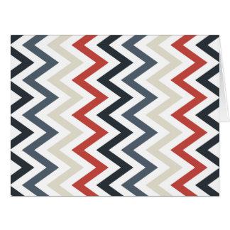 Color azul blanco rojo de los diseños geométricos tarjeta de felicitación grande