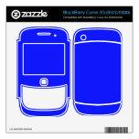 Color azul brillante calcomanías para BlackBerry