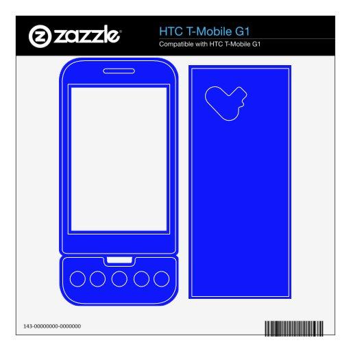 Color azul brillante HTC T-Mobile g1 skins