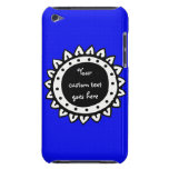 Color azul brillante sólido abstracto iPod touch Case-Mate carcasa