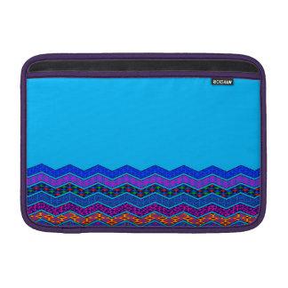Color azul de los diseños geométricos del modelo fundas macbook air