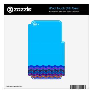 Color azul de los diseños geométricos del modelo iPod touch 4G skin