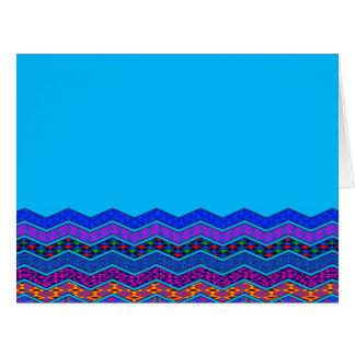 Color azul de los diseños geométricos del modelo tarjeta de felicitación grande