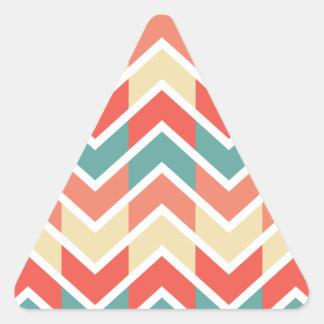 Color azul rosado de los diseños geométricos de calcomanías trianguloes personalizadas