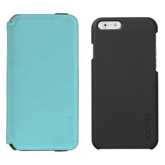 Color azul suave funda billetera para iPhone 6 watson