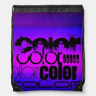 Color; Azul violeta y magenta vibrantes Mochila