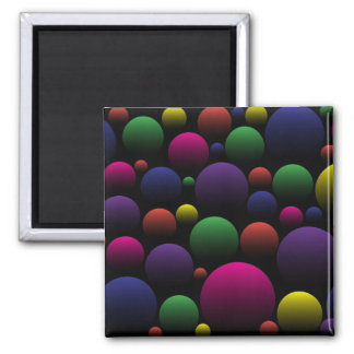 Color Balls 2 Inch Square Magnet