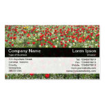 Color Band - Black - Bed of Tulips Business Card Template