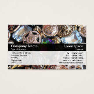 Color Band - Black - Flea Market Bling Business Card