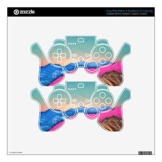 Color Band Mountains PS3 Controller Decal