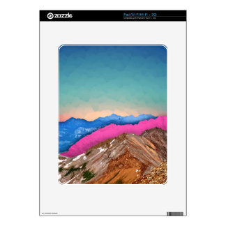 Color Band Mountains Skins For iPad
