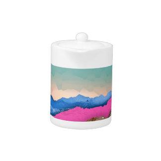 Color Band Mountains Teapot