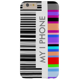 Color Bar Code Concept.  with your own text. Barely There iPhone 6 Plus Case