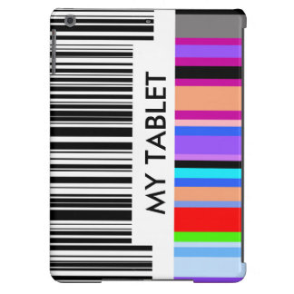 Color Bar Code Concept.  with your own text. iPad Air Case