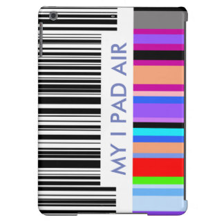 Color Bar Code Concept.  with your own text. iPad Air Cover
