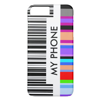 Color Bar Code Concept.  with your own text. iPhone 8 Plus/7 Plus Case