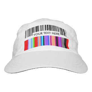 Color Bar Code Concept...with your Text. Headsweats Hat
