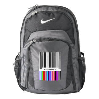 Color Bar Code ..with your mssage. Backpack