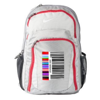 Color Bar Code ..with your mssage. Nike Backpack